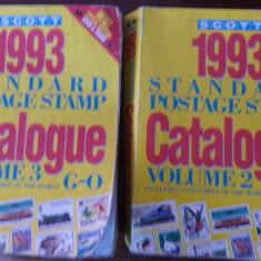 RFL Carte filatelie Catalog Scott 1993, volumele II si III cote netto in USD