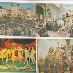 Bnk cp Lot 12 carti postale - pictura - Carte postala tematica, Necirculata, Printata