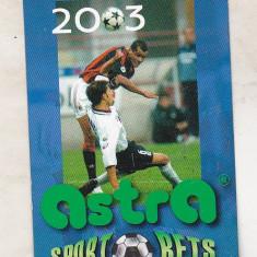 bnk cld Calendar de buzunar 2003 - Astra Sport Bets