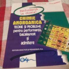 Chimie anorganica-Paraschiva Arsene, Cecilia Marinescu - Teste admitere facultate