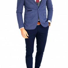Sacou tip Zara Man albastru - sacou barbati - COLECTIE NOUA - 7649, Marime: 46, 48, 50, 52, 54, 56, Culoare: Din imagine