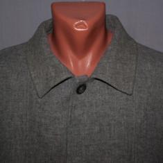 Palton subtire / jacketa barbati ERMENEGILDO ZEGNA marimea 56 / XXL gri din lana - Palton barbati, Marime: 50