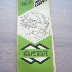 MSHAR - HARTA TURISTICA - BUCEGI - PIESA DE COLECTIE