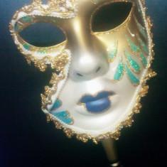 233-20 Masca venetiana pe bat, pentru carnaval petreceri bal mascat