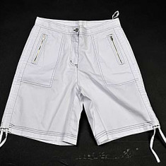Pantaloni Scurti- bermude - barbati - albi - Pantaloni barbati, Marime: 36