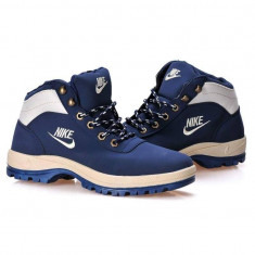 Bocanci Ghete Nike Mandara TRANSPORT GRATUIT! - Bocanci barbati Nike, Marime: 37, 38, 43, Culoare: Bleu, Piele sintetica