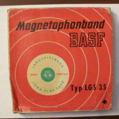 PVM - Banda veche BASF de 17 magnetofon fabricata in Germania (RFG)