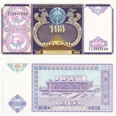 UZBEKISTAN 100 sum 1994 UNC!!! - bancnota asia