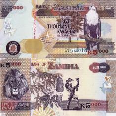ZAMBIA 5.000 kwacha 2010 UNC!!!