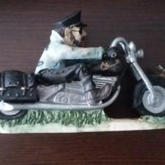 STATUETA MOTOCICLIST ! - Figurina/statueta