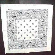 Bandana floral - alb