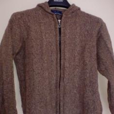 Bluza cu fermar Promod - Hanorac dama Made in Italia, Marime: S, Culoare: Maro