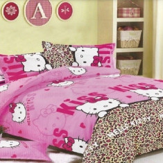 Lenjerie de pat Hello Kitty - Lenjerie pat copii