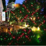 Cumpara ieftin Laser craciun exterior instalatie jocuri de lumini rosu si verde