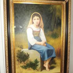 SUPERB!..Exceptional tablou pictat in ulei pe panza o lucrare foarte buna - Pictor roman, Portrete, Realism