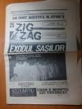 ziarul zig zag 28 august -3 septembrie 1990-art. despre exodul sasilor