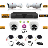 Sistem complet de supraveghere kit DVR - FullHD 1080p + 4 camere HD mixt 2i2e