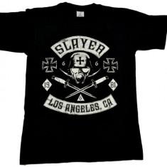 Tricou Slayer - cruce fier - Los Angeles, CA ., Marime: M