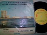 DISC VINIL AL IV-LEA FESTIVAL DE MUZICA UȘOARA ROMÂNEASCĂ-MAMAIA 1966