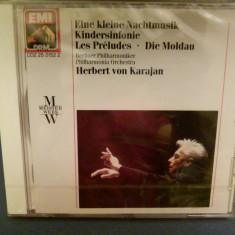 Mozart - Eine kleine Nachtmusik- Karajan - Muzica Clasica emi records, CD