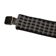 Bretele pantaloni - carouri negre