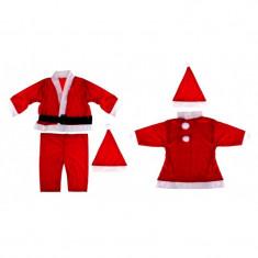 Costum de Mos Craciun sau Craciunita pentru copii 6-8 ani - Costum Mos Craciun