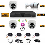 Sistem complet de supraveghere kit DVR FullHD 1080p + 4 camere HD mixt 3i1e
