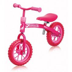 Bicicleta Fara Pedala Bubble Pink, 10 inch - Bicicleta copii Hauck
