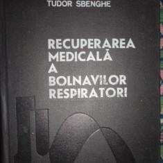 Recuperarea medicala a bolnavilor respiratori an 1983/490pag.- Tudor Sbenghe - Carte Recuperare medicala