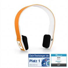 Căști Bluetooth Auna Air 300 portocaliu-albe
