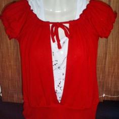 Tricou bluza dama - Metrofive culoare rosie si alb ....OFERTA !! - Tricou dama, Marime: L/XL