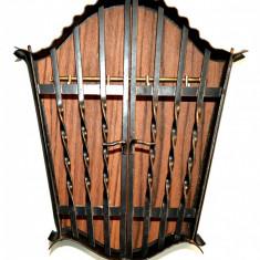 Cuier pentru chei, cutie metalica ornamentala de perete din tabla - Cuier hol