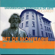 SET MONETARIE 2014 - UNIVERSITATEA DE ARTE BUCURESTI - TIRAJ 500 BUCATI - Moneda Romania
