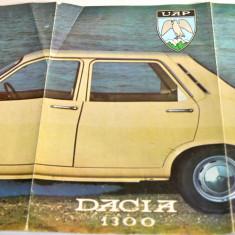 Pliant publicitar UAP - Dacia 1300 - export Germania