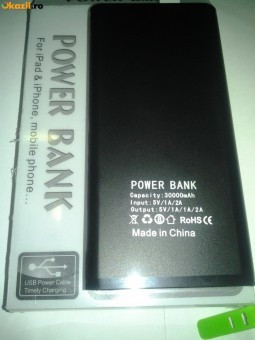 Baterie externa Power bank 30.000 mAh foto mare