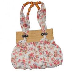 Geanta dama vara - model cu floricele, Geanta de umar, Multicolor