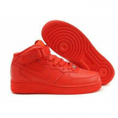 Adidasi unisex gheata NIKE AIR FORCE ONE TRANSPORT GRATUIT - Adidasi barbati Nike, Marime: 36, 37, 38, 39, Culoare: Rosu, Piele sintetica