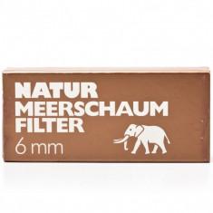 Filtre pipa, Natur Meerschaum Filter 6mm, 43 Buc - Accesorii Pipa