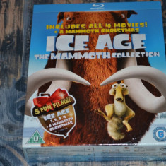 Film - Ice Age 1-4 + A Mammoth Christmas [5 Filme - 5 Discuri Blu-Ray] Import UK - Film animatie fox, Engleza