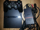 Playstation 2 modat slim ps2 modat+7 jocuri:GTA Mortal Kombat FIFA 14 TEKKEN etc