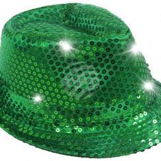 Palarie Trilby cu paiete si LED pentru petreceri - Palarie Dama