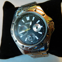 Ceas barbatesc SEKONDA multi-date 30M, Casual, Quartz, Inox, Otel, Data