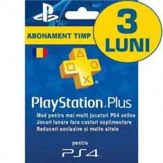 Playstation Plus Subscription Card Abonament 3 Luni Ro, Sony