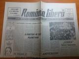 ziarul romania libera 30 septembrie -1 octombrie 1990
