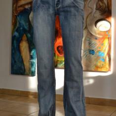 Blugi dama/femei - Blind Date casual wear - marime L, usor elastici #402, Marime: L, Culoare: Albastru, Lungi, Normala