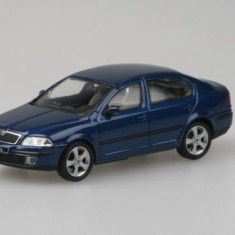 Macheta auto Abrex Skoda Octavia 2004 - Deep Sea Blue Metallic 1:43
