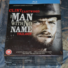 Film - The Man With No Name Trilogy [3 Filme - 3 Discuri Blu-Ray], Import UK - Film Colectie mgm, Engleza