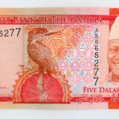 GAMBIA - 5 Dalasis 2015 - UNC - bancnota africa