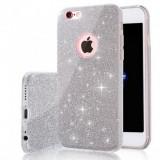 Husa iPhone 7 Plus TPU Glitter Silver, iPhone 7/8 Plus, Gri, Gel TPU, Apple