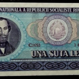 ROMANIA 100 LEI 1966 UNC ** - Bancnota romaneasca